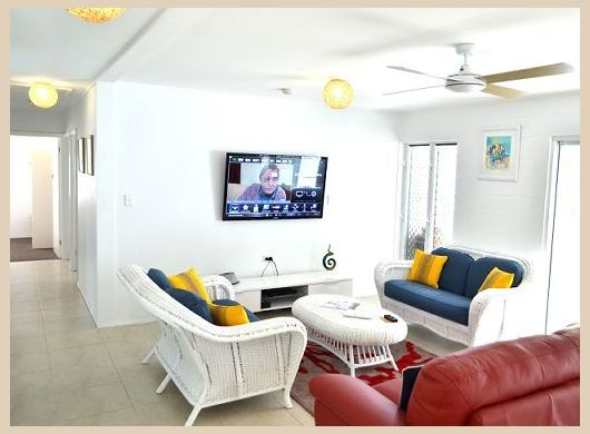 Port Douglas Beach House open lounge